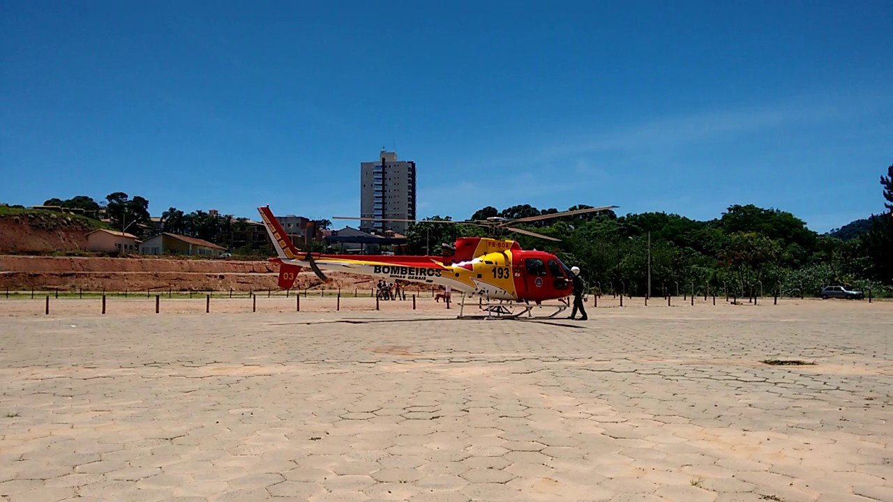 Helicóptero do samu do sul de Minas Gerais! Base em Varginha