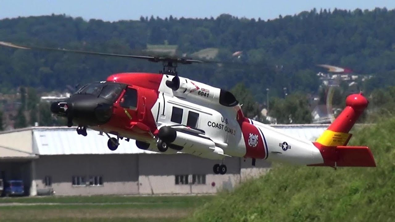 U.S. Coast Guard MH-60 Jayhawk rescue RC scale helicopter
