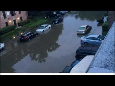 Houston Flood Hundreds of Cars Lost, Homes Damaged by Severe
