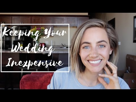 Keeping Your Wedding Inexpensive