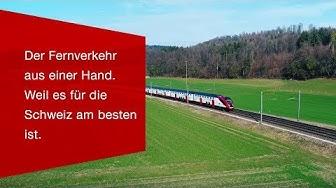 Der Fernverkehr aus einer Hand. Weil es für die Schweiz am besten ist.