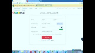 how to make a zoho mail account..full tutorial 720p