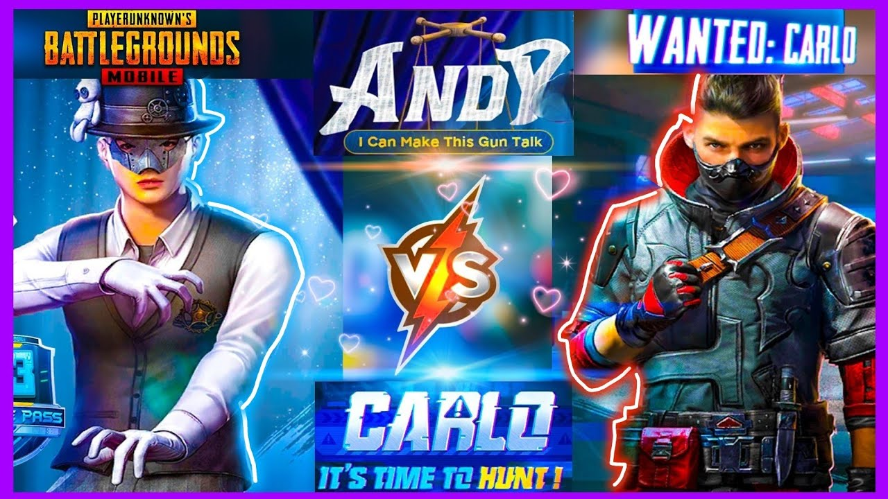 CARLO VS ANDY : SEASON 13 UPDATE ( NEW CHARACTER IN PUBG MOBILE )