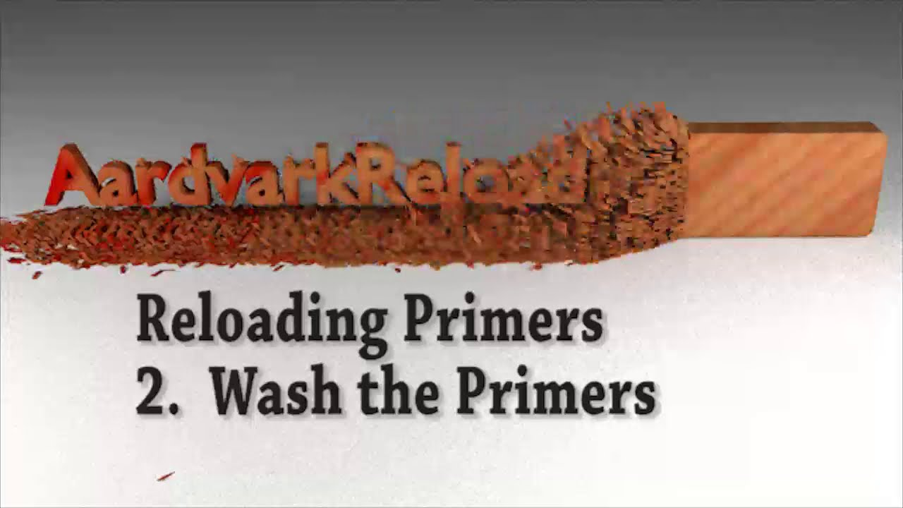 Homemade Primer Series - Part 2 - Washing the Primers