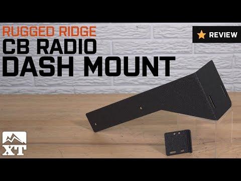 Rugged Ridge 13551.09 Black CB Radio Dash Mount
