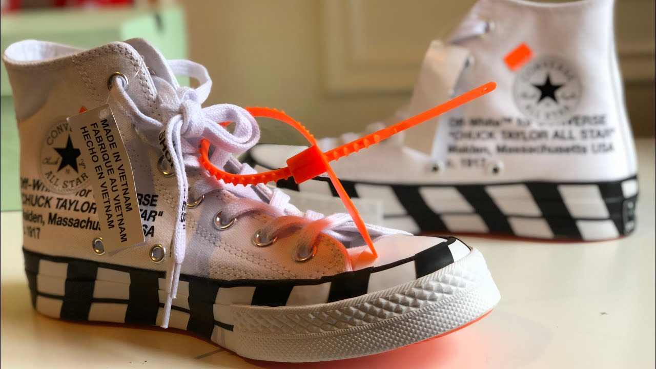5e171661c3cf Off-White Converse Chuck Taylor All-Star 70s Hi Review - YouTube
