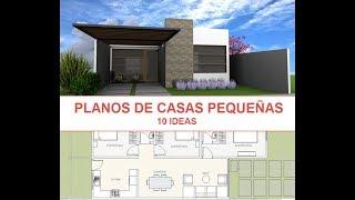 10 Ideas de planos de casas para construir en terreno pequeño