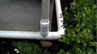 How to install a downspout drain.