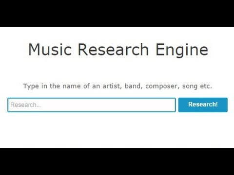 Music Research Engine - YouTube & Wikipedia Combined - World-First!