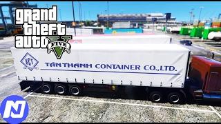 GTA 5 - Làm tài xế xe Container vận chuyển hàng hóa cho Tân Thanh | ND Gaming screenshot 1