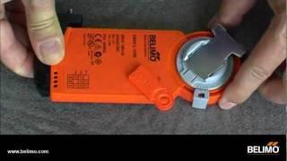 Belimo CM..D: Actuators with damper blade / Antriebe mit Klappenblatt