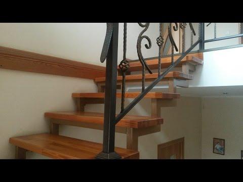металлический каркас для деревянной лестницы