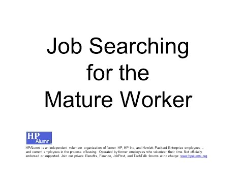 HP Alumni: Job Searching for the Mature Worker