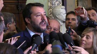 """Ue, Salvini: """"Gentiloni agli affari economici? Conte ha fatto patto con il diavolo"""""""