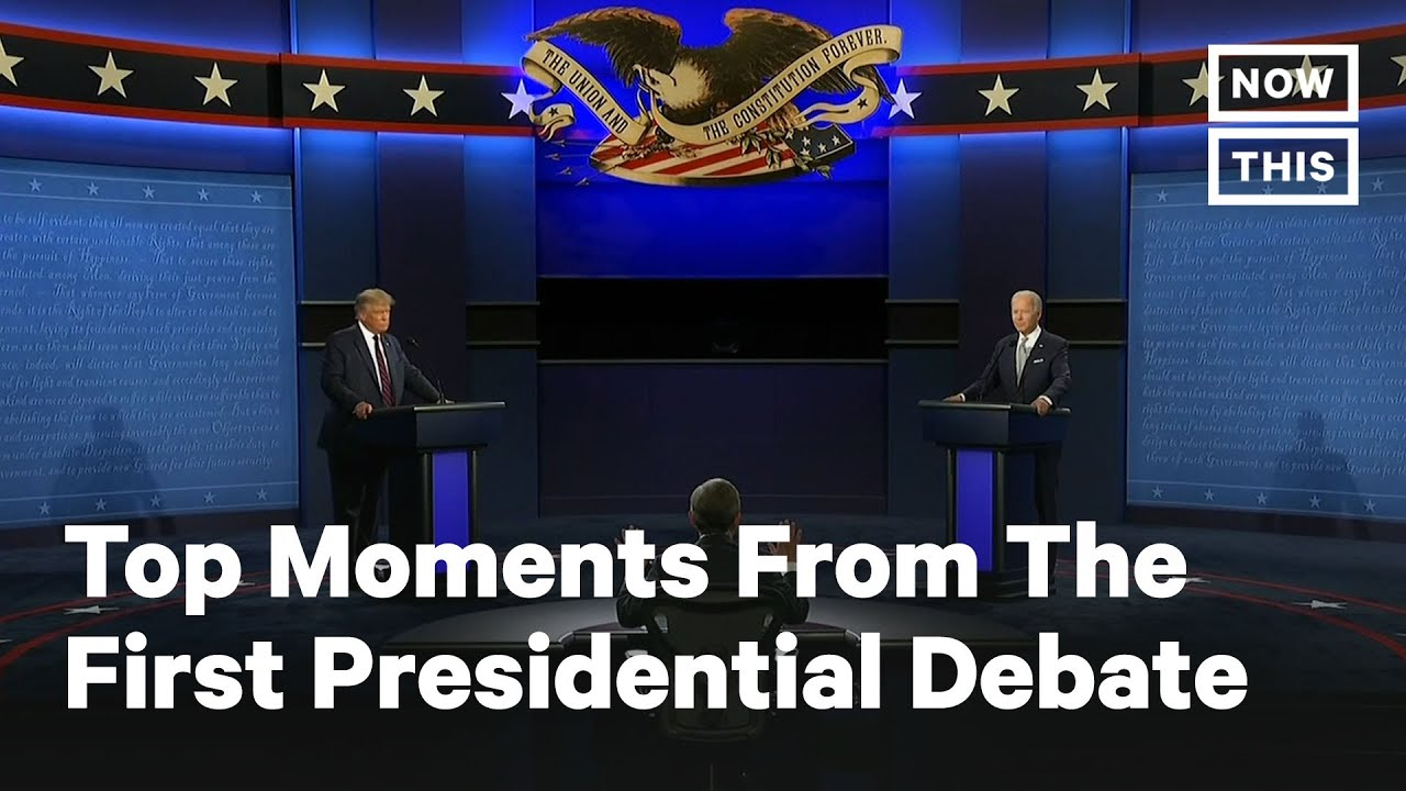 Top Moments from the First Presidential Debate: Donald Trump vs. Joe Biden | NowThis