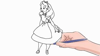 How to Draw Alice Easy Step by Step