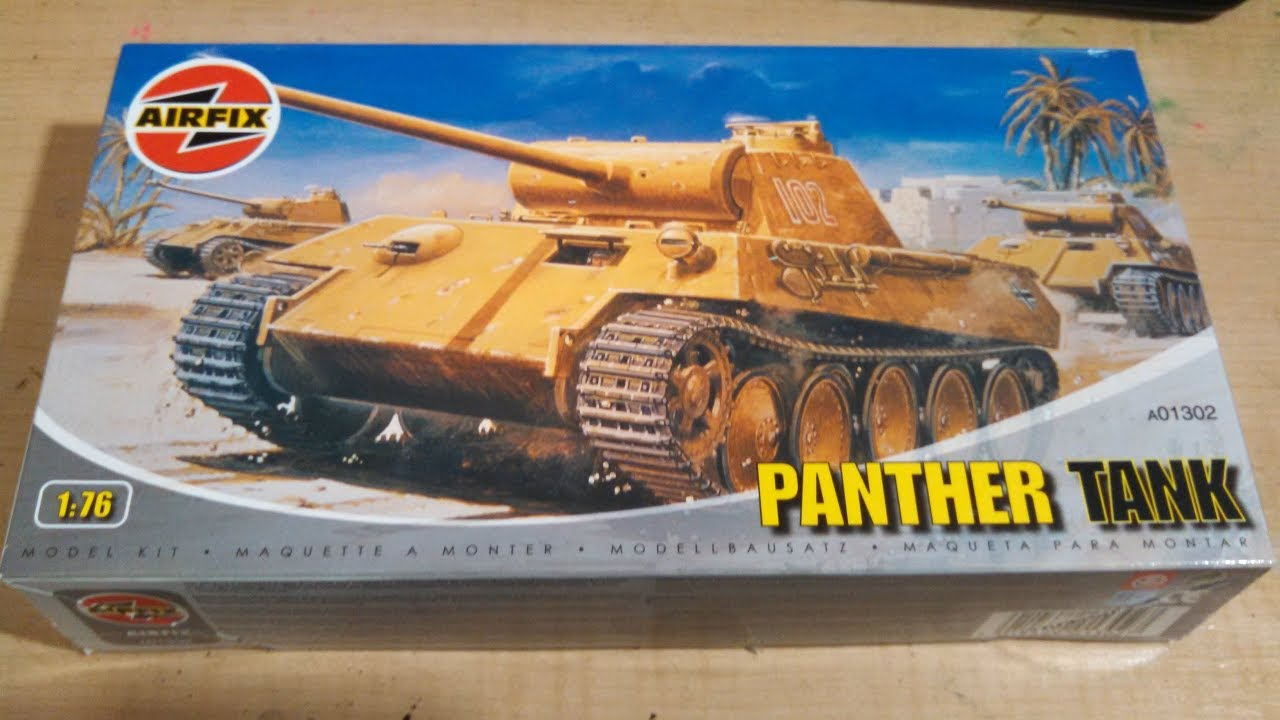Airfix Panther Tank 1/76 Model Kit Comlpete
