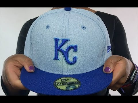 dfc49cef135a9 Royals  2018 FATHERS DAY  Sky-Royal Fitted Hat by New Era - YouTube
