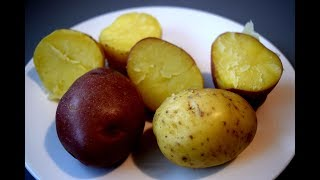 Как быстро сварить картофель в мундире на салат.