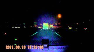 H-190 砲管型行車記錄器 夜間高速公路(紅外線開).AVI