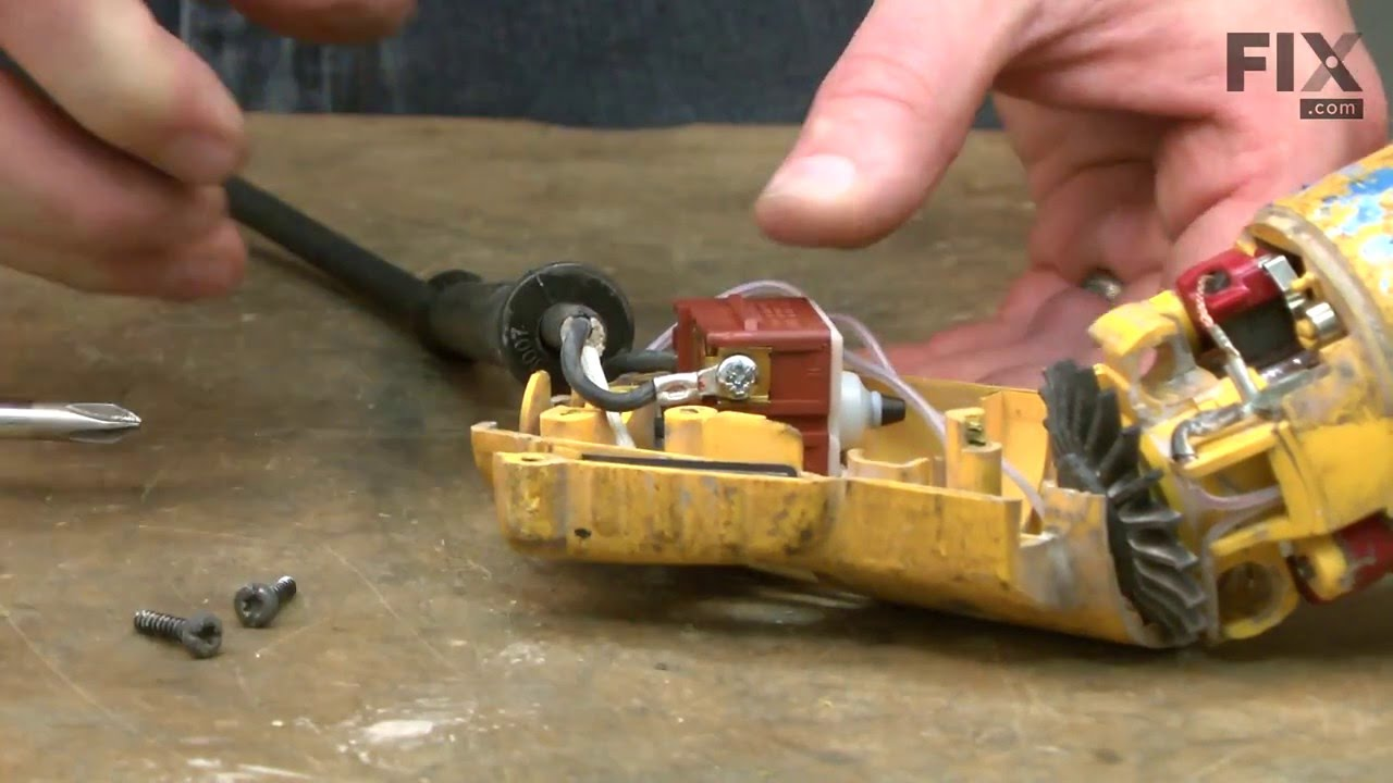DeWALT Grinder Repair – How to replace the Power Cord on