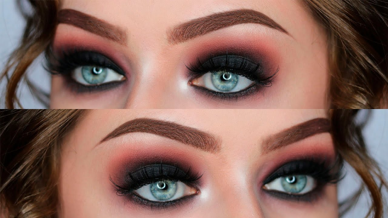 black smokey eye step by step tutorial