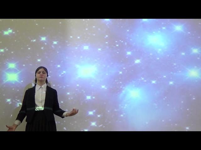 Изображение предпросмотра прочтения – МиленаЗубайраева читает произведение «Послушайте! (Послушайте! Ведь, если звезды зажигают…)» В.В.Маяковского
