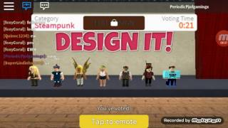I'm playing Roblox design it