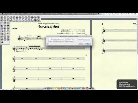 Finale 2012 Or 2014: How To Input Triplets & More - Jorge Silvestrini