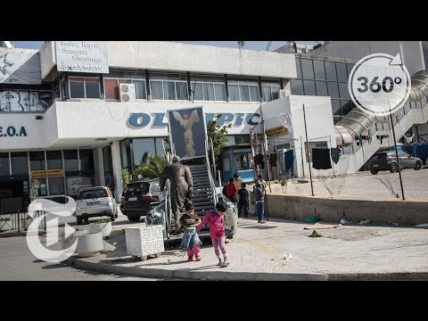 Inside An Abandoned Airport In Greece, A Refugee Camp | The Daily 360 | The New York Times