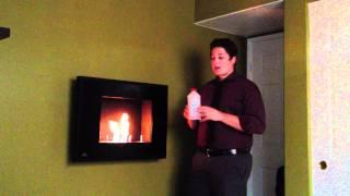 Napoleon Wall Mount Ethanol Slim Profile Burning Fireplace Review Tutorial WMFE2K Black Vent Free