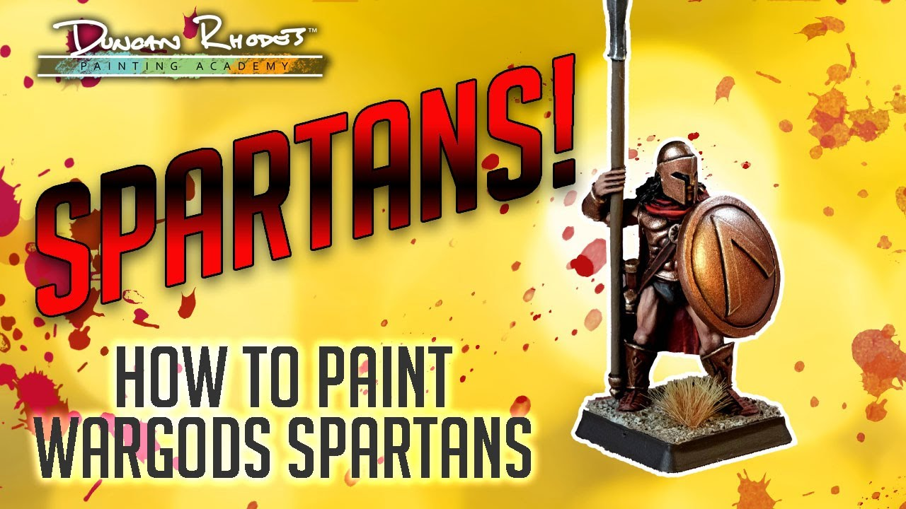SPARTANS!!! How to paint WarGods Spartans.
