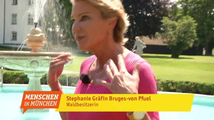 stephanie gr fin bruges von pfuel wald und schlossherrin menschen in m nchen youtube. Black Bedroom Furniture Sets. Home Design Ideas
