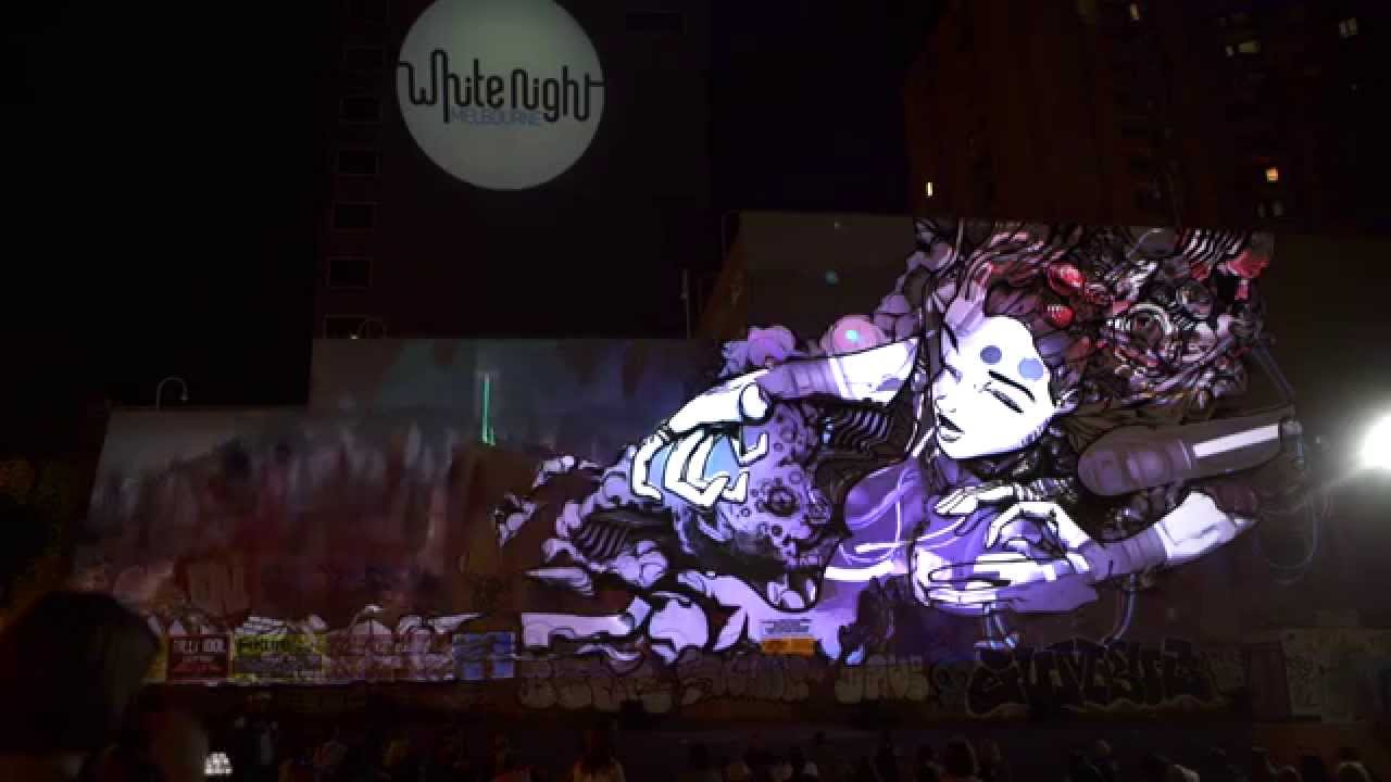 Sofles Graffiti Mapped Whole Projection Video