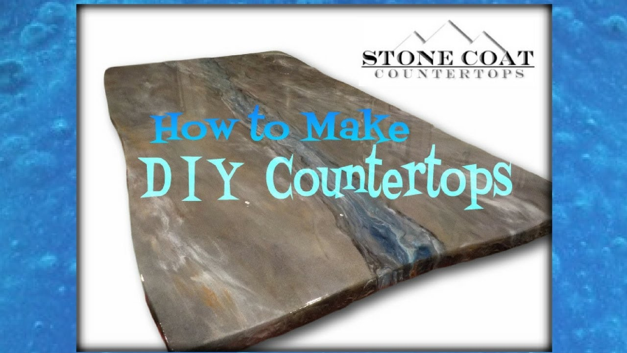 How To Make Diy Counter Tops Youtube