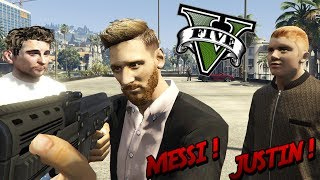 GTA V PC MODS - MESSI Y JUSTIN BIEBER ASESINOS EN GTA 5 !! - ElChurches