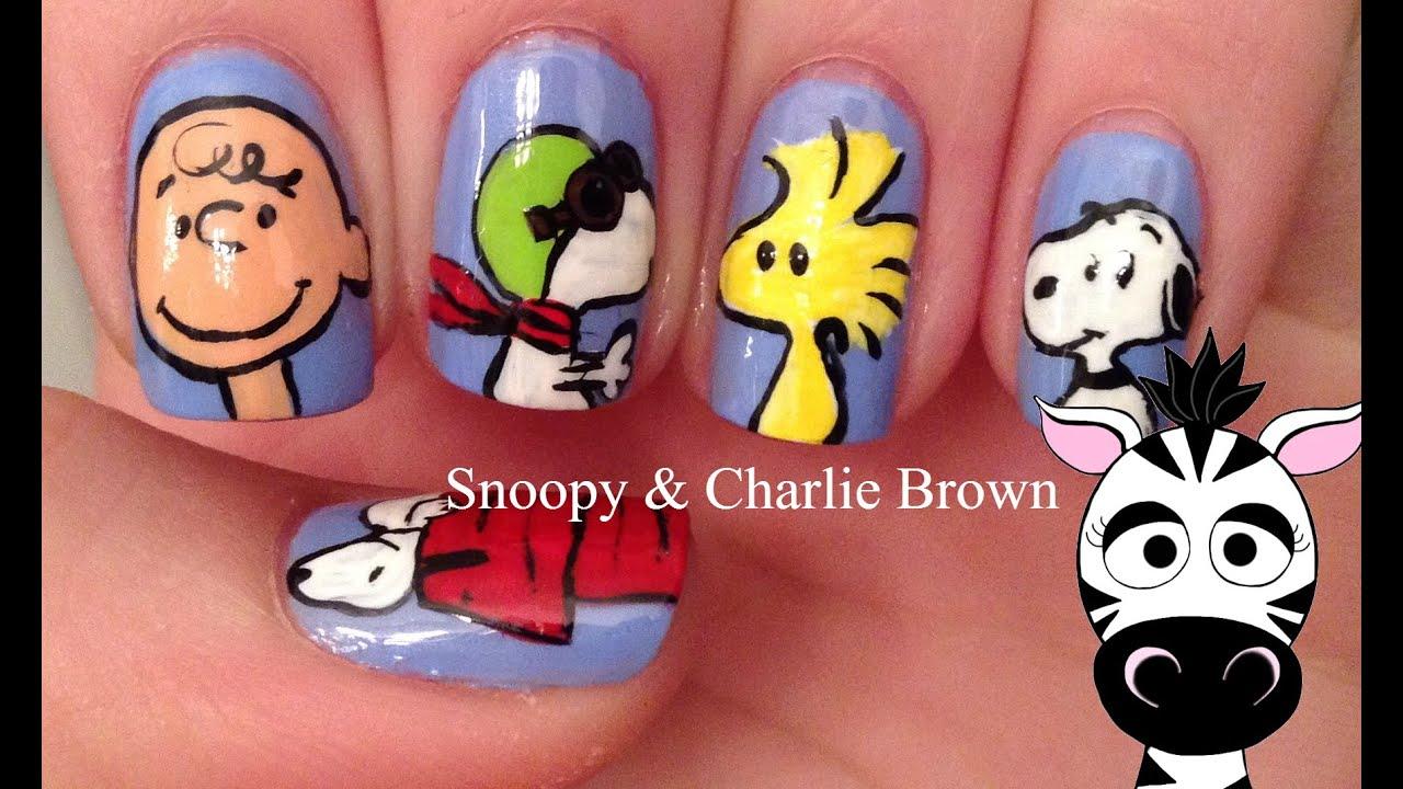 Extraordinaire Snoopy Nail Art Tutorial   Peanuts Movie - YouTube LA69