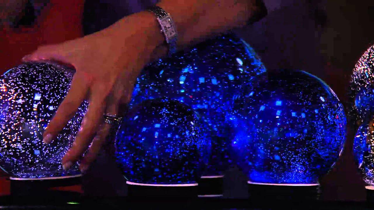 Set Of 3 Lit Indoor Outdoor Mercury Glass Spheres W Timer