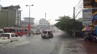 Mưa lớn: Hạ Long xuất hiện nhiều điểm ngập lụt