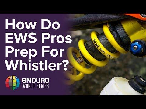 How Do EWS Pros prepare their bikes for Whistler?
