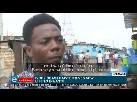 Ivory Coast e-waste painter
