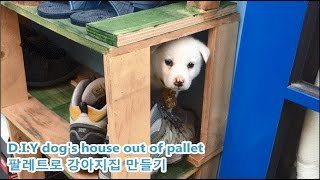 Build A Dog House Out Of Pallet/파레트로 강아지 집 만들기