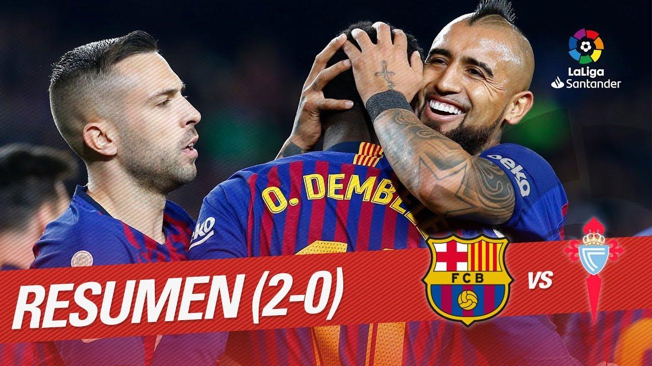 Resumen De Fc Barcelona Vs Rc Celta 2 0 Youtube