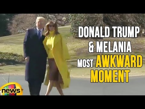 US President Donald Trump And Melania Most Awkward Moment | Mango News