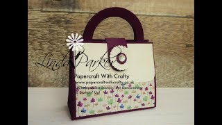 Handbag Style Gift Box in Frosted Florals Specialty DSP from Stampin' Up!