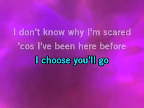 Adele - One And Only Karaoke Instrumental with lyrics on screen -