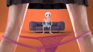 Funny video skeleton life