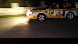 Michael Gerber Audi S1 start to the night special stage Rallylegend 2015