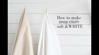 How to Bleach Drop Cloth to Make it Soft and White