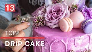 Мастеркласс: кремовый торт в технике Drip cake - готовим и украшаем торт кремом и живыми цветами